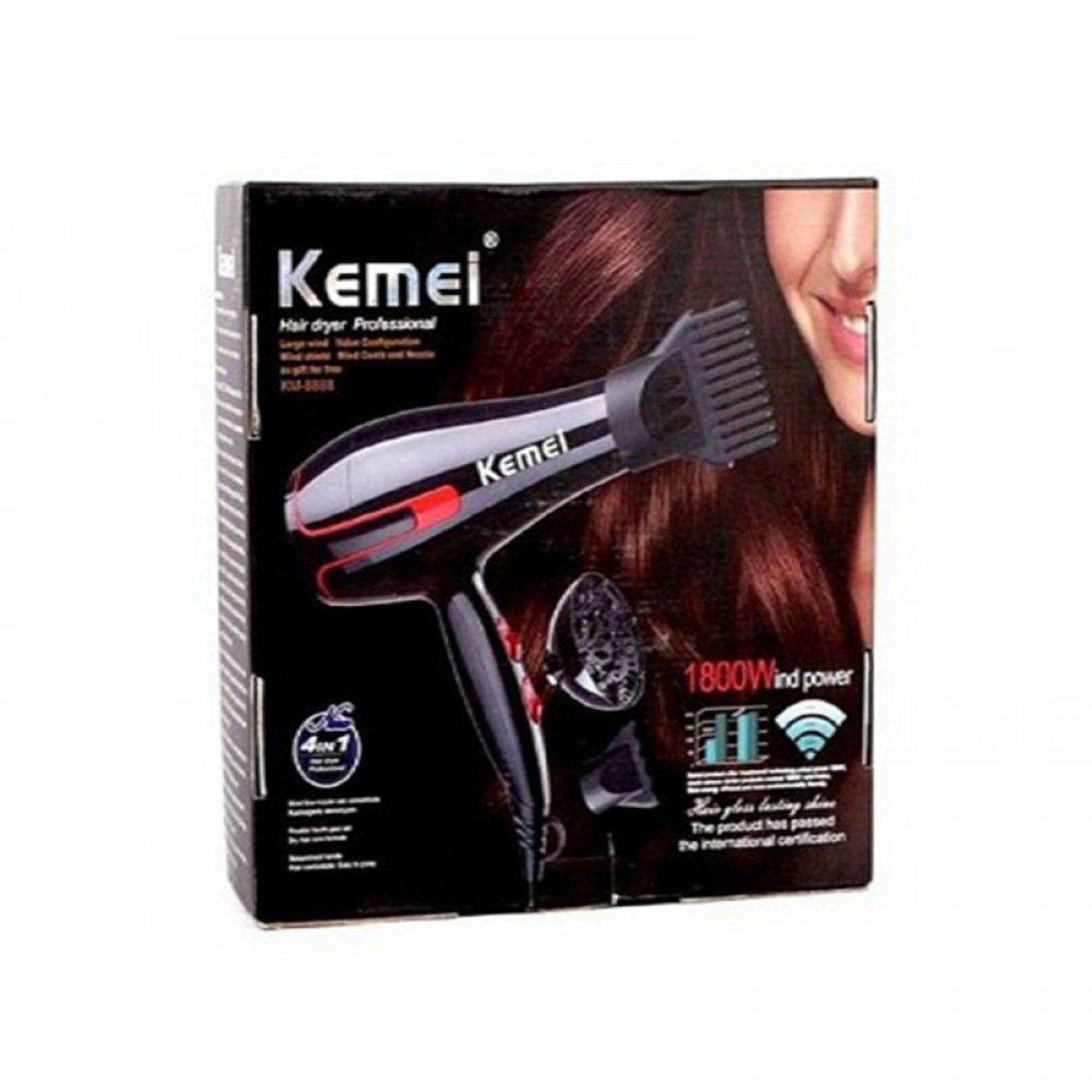 Kemei KM-8888 Επαγγελματικό Πιστολάκι Μαλλιών 1800W 4 σε 1 5c24d098e01