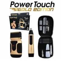 Power Touch Gold Edition - Ξυριστική μηχανή με δώρο μηχανή τριμαρίσματος και σετ περιποίησης