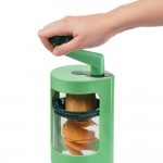 Super Julietti Χειροκίνητος Πολυκόφτης Λαχανικών με Δώρο Σετ 5 γυάλινα μπολ με καπάκια HomeVero