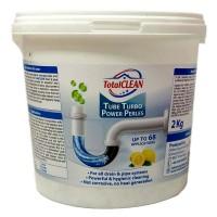 Total CLEAN Tube Turbo Power Pearls Σκόνη Καθαρισμού Σωλήνων και Σιφονιών 1 + 1 kg Δώρο