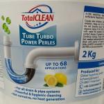 TotalCLEAN Tube Turbo Power Pearls Σκόνη Καθαρισμού Σωλήνων και Σιφονιών 1 + 1 kg Δώρο