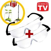 Mag Vision Γυαλιά με Μεγεθυντικούς Φακούς 1 + 1 και Δώρο Χειροκίνητη Σκούπα 3 σε 1 Eco Sweeper