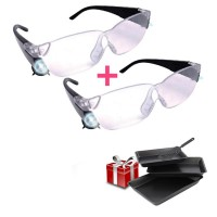 Mag Vision Γυαλιά με Μεγεθυντικούς Φακούς και φωτισμό LED 1 + 1 και Δώρο Σετ ταψιά 3 τμχ HomeVero HV-1535