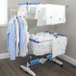 Σετ οργάνωσης πλυντηρίου με καλάθι οργάνωσης άπλυτων ρούχων και πτυσσόμενο στεγνωτήριο - απλώστρα
