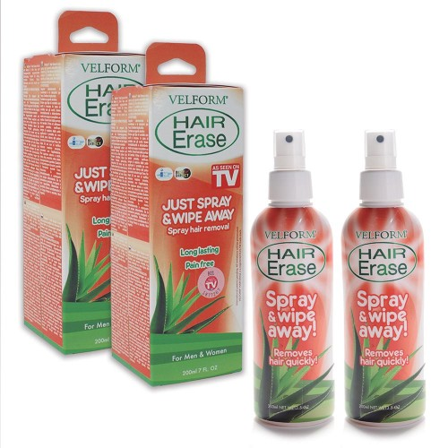 Velform Hair Erase Καλλυντικό Σπρέι Αποτρίχωσης 1+1 Δώρο