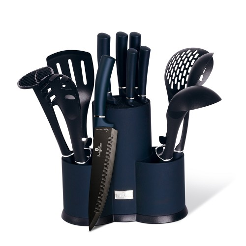 Berlinger Haus Σετ Μαχαίρια - Εργαλεία Κουζίνας με Βάση Στήριξης 12τμχ. Inox BH-6249