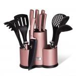 Berlinger Haus Σετ Μαχαίρια - Εργαλεία Κουζίνας με Βάση Στήριξης 12τμχ. Inox BH-6252