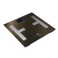 Berlinger Haus Ψηφιακή Ζυγαριά Μπάνιου για Υπολογισμό Λίπους και Δείκτη Μάζας Σώματος Max 150Kg Shiny Black Edition BH-9220