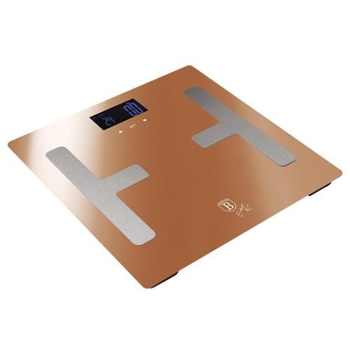 Berlinger Haus Ψηφιακή Ζυγαριά Μπάνιου με Υπολογισμό Λίπους και Δείκτη Μάζας Σώματος Max 180Kg Rose Gold Edition BH-9105