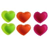 Φορμάκια σιλικόνης σε σχήμα καρδιάς 6 τεμ.  BL-1267