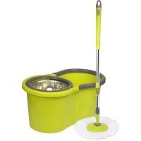 Cenocco Σετ Κουβάς με Περιστρεφόμενη Σφουγγαρίστρα 360° Πράσινη CC-9057