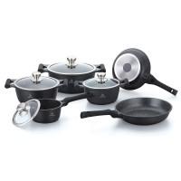 Herenthal Σετ αντικολλητικά μαγειρικά σκεύη 10 τμχ σε μαύρο χρώμα HT-CBS1010M-BLK