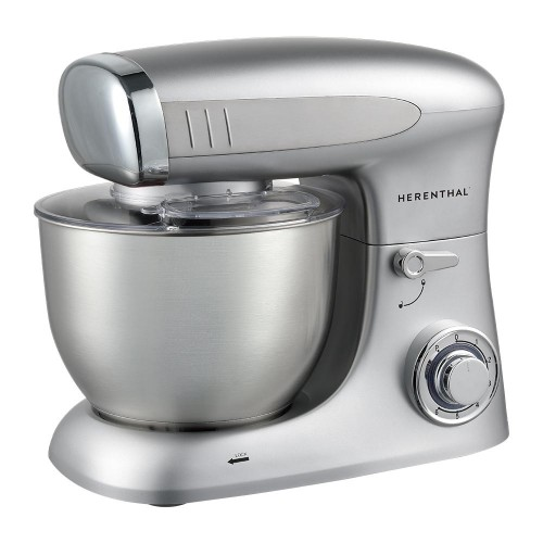 Herenthal Επιτραπέζιο μίξερ - Κουζινομηχανή 1900W max σε ασημί χρώμα HT-PKM1900.472.9-SLV
