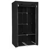 Φορητή υφασμάτινη ντουλάπα Herzberg HG-8010-BLK Μαύρη