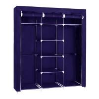 Φορητή υφασμάτινη ντουλάπα Herzberg HG-8011-BL Μπλε