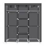 Φορητή υφασμάτινη ντουλάπα Herzberg HG-8011-BLK Μαύρη