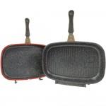 HomeVero Διπλο τηγάνι 36 εκ. με επίστρωση μαρμάρου HV-DP36M-COP