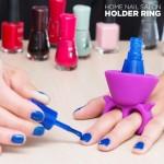 InnovaGoods Δαχτυλίδι-Βάση Στήριξης για Βερνίκι Νυχιών Home Nail Salon