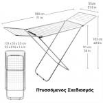 Tatkraft Πτυσσόμενη απλώστρα ρούχων 180 x 55 cm T11724