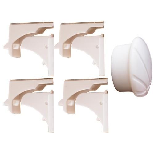 Tatkraft Σετ 4 μαγνητικές κλειδαριές ασφαλείας για ντουλάπια και συρτάρια T20221