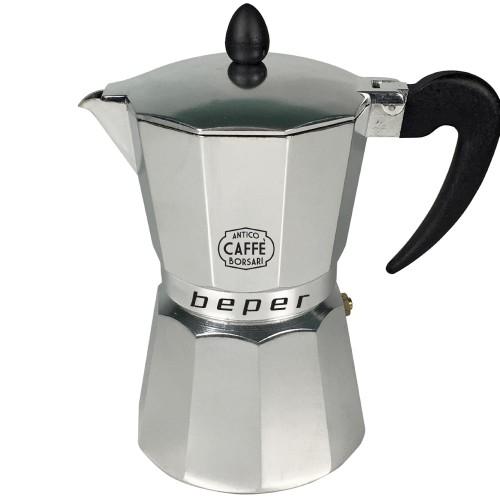 Καφετιέρα espresso 6 φλιτζανιών κατάλληλη και για επαγωγικές εστίες, Beper CA.013