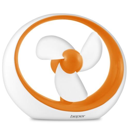 Φορητός Ανεμιστήρας Μπαταρίας & USB Beper VE.400A πορτοκαλί