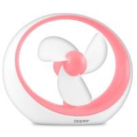 Φορητός Ανεμιστήρας Μπαταρίας & USB Beper VE.400F ροζ