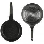 Edenberg Σετ αντικολλητικά μαγειρικά σκεύη 12 τμχ σε μαύρο χρώμα EB-5633