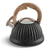 Edenberg Βραστήρας Νερού - Τσαγιερό σε μαύρο χρώμα και λαβή σε όψη ξύλου 3Lt EB-8810-BLK