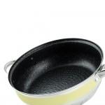 Edenberg Σετ μαγειρικά σκεύη από ανοξείδωτο ατσάλι σε κίτρινο χρώμα 12 τμχ EB-9981