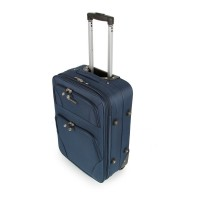 SUNRISE BAGS Χειραποσκευή trolley navy 22Lt 2125N-18-NV