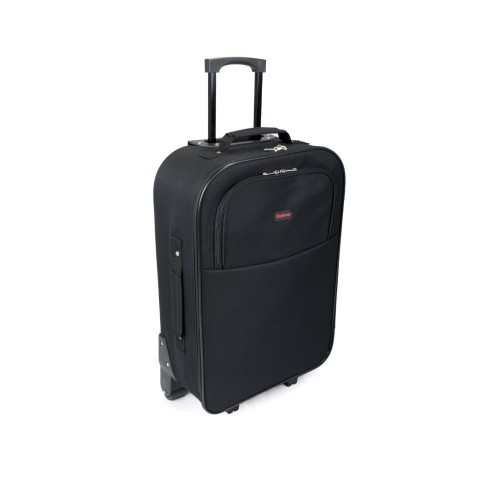 d568963c6d SUNRISE BAGS Χειραποσκευή trolley μαύρη-κόκκινη 22Lt 2087P-20-BK