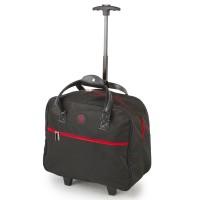 SUNRISE BAGS Τσάντα trolley μαύρη-κόκκινη 32Lt CB02.E-BKRD