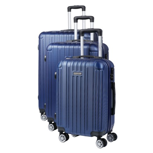 Manoukian Σετ Βαλίτσες-Χειραποσκευές 3τμχ Μπλε MAN-45-N