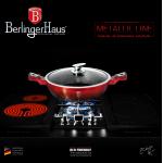 Αντικολλητική ρηχή κατσαρόλα 28 εκ. με γυάλινο καπάκι, Berlinger Haus BH-1626N