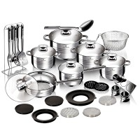 Σετ μαγειρικά σκεύη 32 τεμαχίων από ανοξείδωτο ατσάλι Gourmet Line, Blaumann BL-3168B