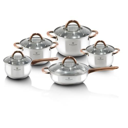 Σετ Μαγειρικών Σκευών από Ανοξείδωτο Ατσάλι 10 τμχ Blaumann BL-3420