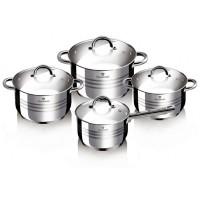 Blaumann Gourmet Line - Σετ αντικολλητικά μαγειρικά σκεύη από ανοξείδωτο ατσάλι - 8 τεμ BL-3115