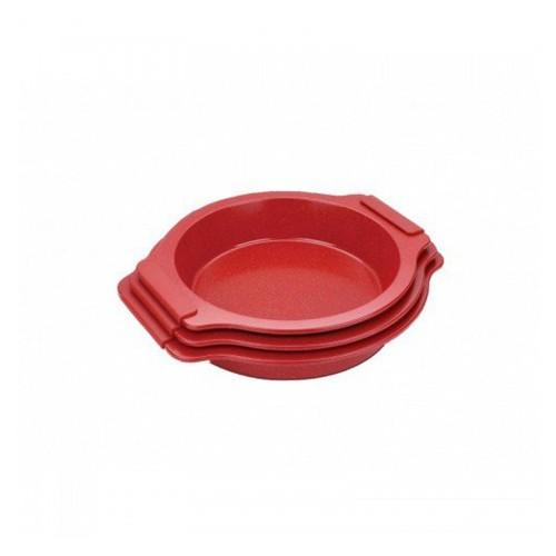 Σετ Ταψιά - Φόρμες Ψησίματος Αντικολλητικά, 3τμχ, 35/37/39cm, RL-MMR3-RED