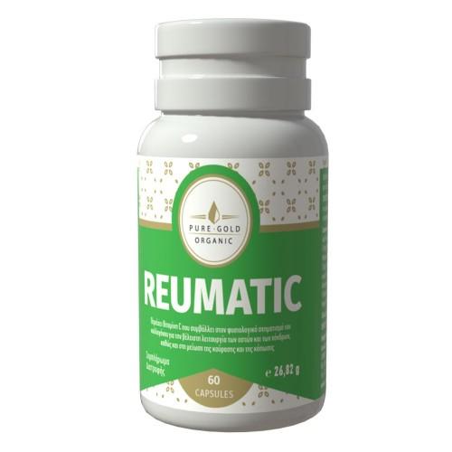 Pure Gold Organic Συμπλήρωμα διατροφής για την ενδυνάμωση των οστών και των αρθρώσεων 60 κάψουλες Reumatic