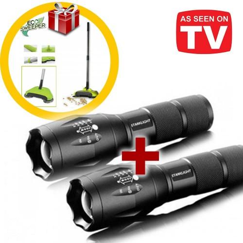 Stark Light Φακός Πολλαπλών Χρήσεων 1+1 Δώρο και ΔΩΡΟ Eco Sweeper