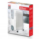Zilan Ηλεκτρικό τροχήλατο καλοριφέρ λαδιού 9 φέτες 2000W ZLN2111-WHT