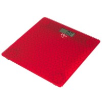 Zilan Ψηφιακή Γυάλινη Ζυγαριά Μπάνιου Κόκκινη ZLN7680-RED